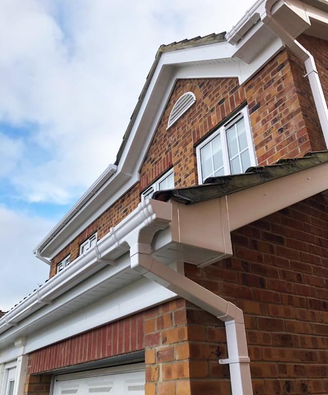 image showing recently installed fascias and soffits in wigan